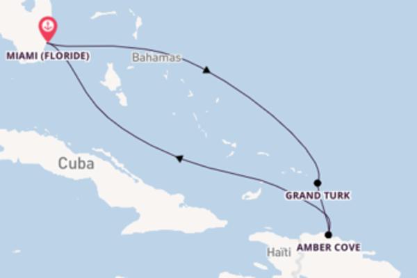 6 jours pour découvrir Grand Turk au départ de Miami (Floride)
