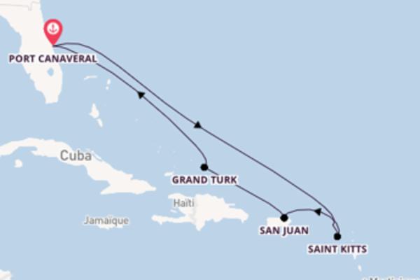 Dépaysante balade de 9 jours avec Carnival Cruise Lines