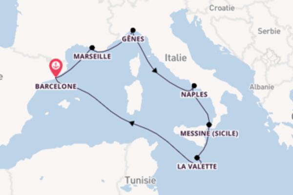 Belle croisière de 8 jours avec MSC Croisières