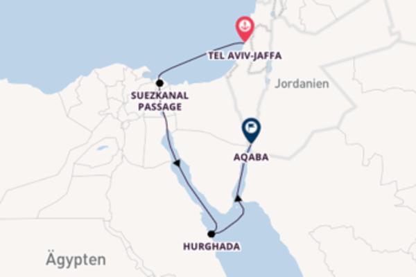 Von Tel Aviv-Jaffa, Israel über Port Said (Kairo), Ägypten in 7 Tagen