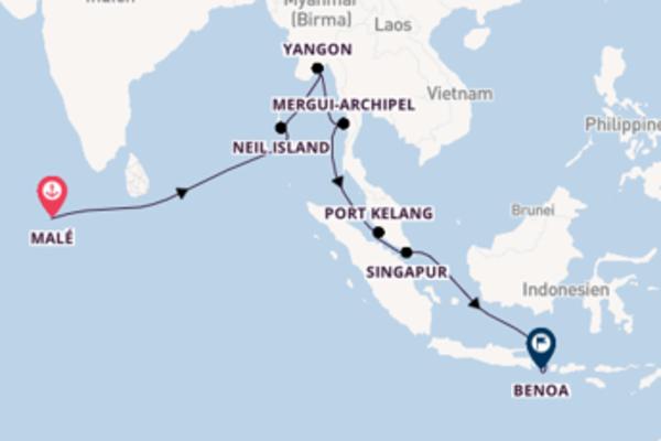 21 Tage Asien Reise