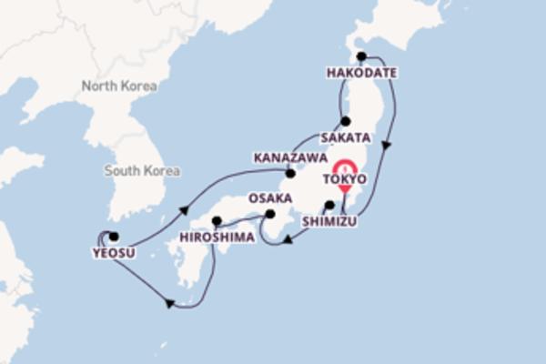 Imperdibile viaggio di 15 giorni verso Sakata a bordo di Silver Muse