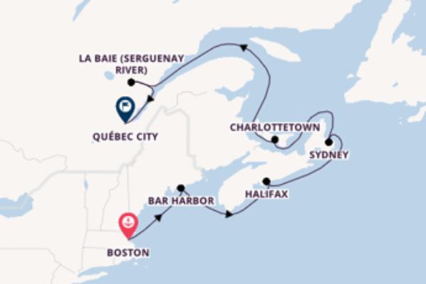 Magnificent Boston to breath-taking Québec City