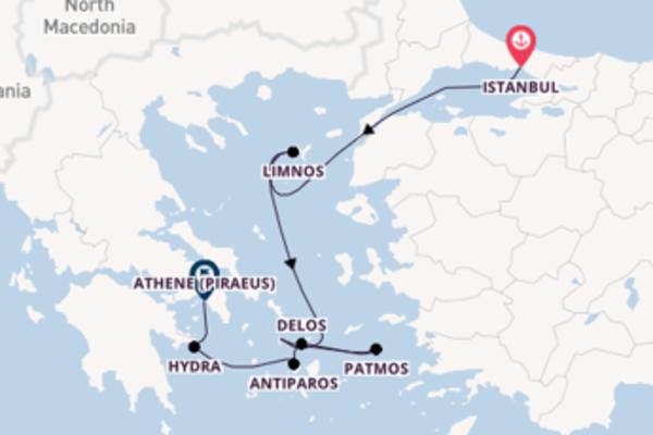 8-daagse cruise met de Le Lyrial vanuit Istanbul