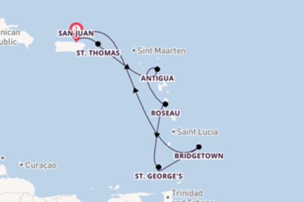 Attraente viaggio da San Juan verso St. George's