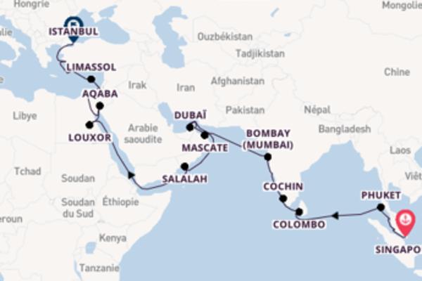 Croisière de 38 jours depuis Singapour avec Regent Seven Seas Cruises
