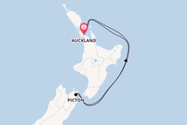 Vaar met de Regal Princess naar Auckland