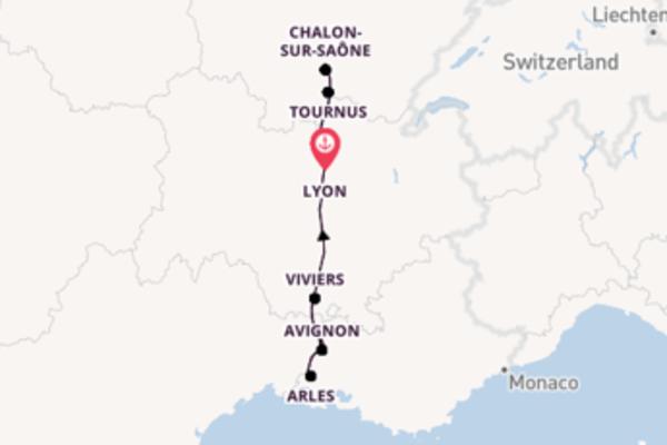 8-daagse droomcruise vanuit Lyon