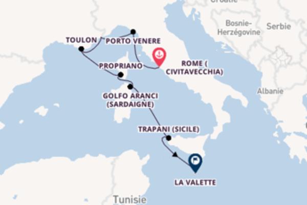 Propriano depuis Rome (Civitavecchia) pour une croisière de 8 jours