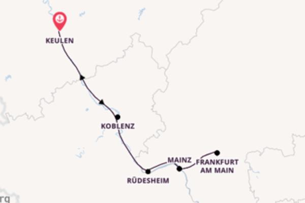 Vaar langs het sfeervolle Mainz