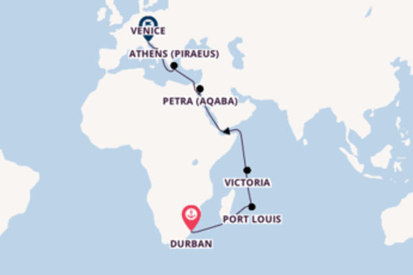Charming expedition from Durban with MSC Cruises