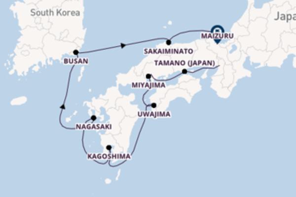De pracht van het fascinerende Kagoshima