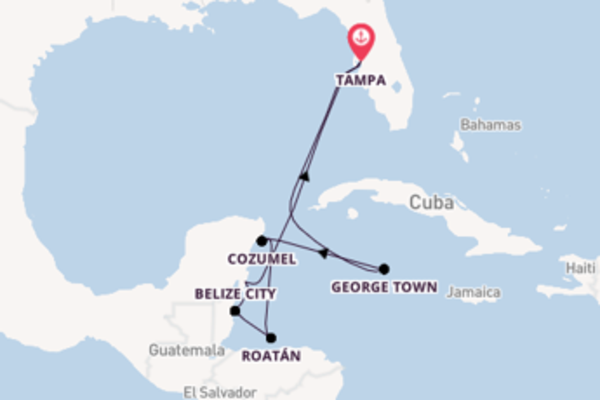 Sailing from Tampa via Belize City
