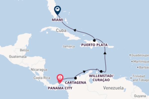 10 giorni verso Miami passando per Oranjestad
