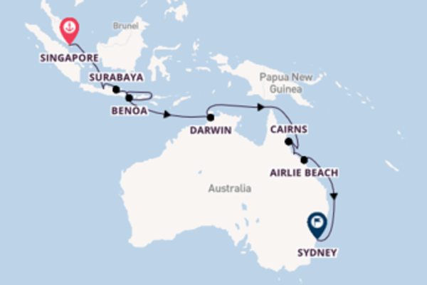 Trip from Singapore with the Seabourn Encore