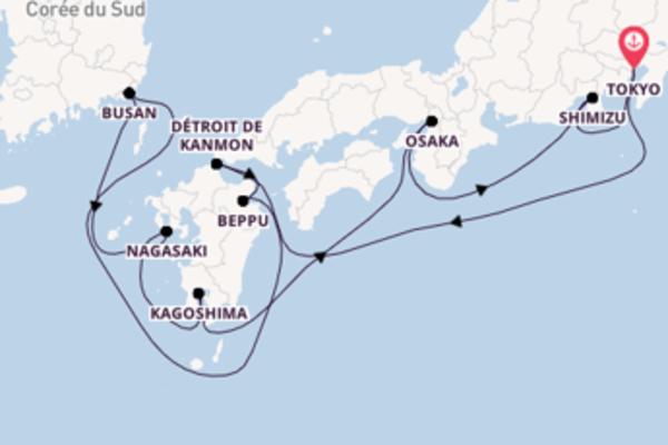 10 jours de navigation à bord du bateau Norwegian Sun vers Tokyo