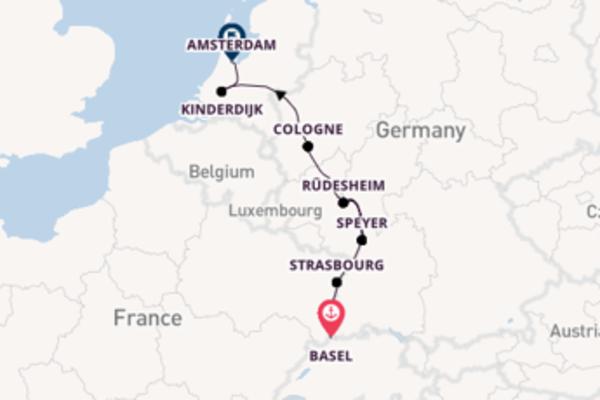 Trip from Basel to Amsterdam via Kinderdijk