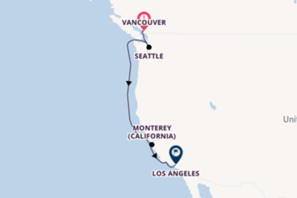 Incredibile crociera di 8 giorni passando per San Francisco