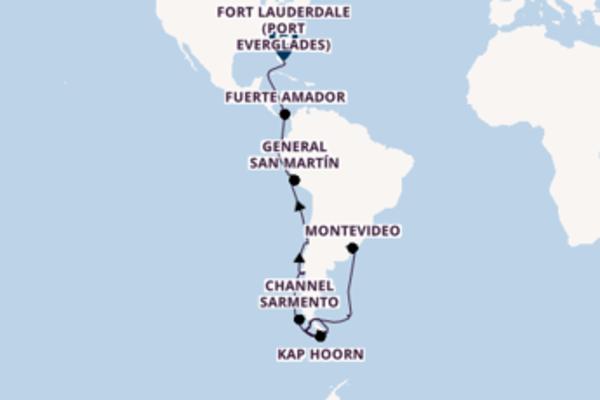 Wunderbare Kreuzfahrt über Stanley nach Fort Lauderdale (Port Everglades)