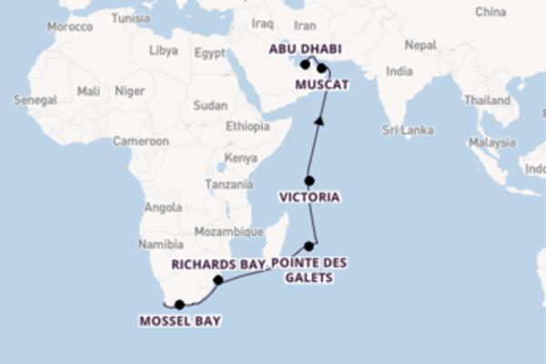 21-daagse cruise vanaf Kaapstad
