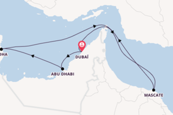 Dubaï et une joyeuse croisière depuis Dubaï