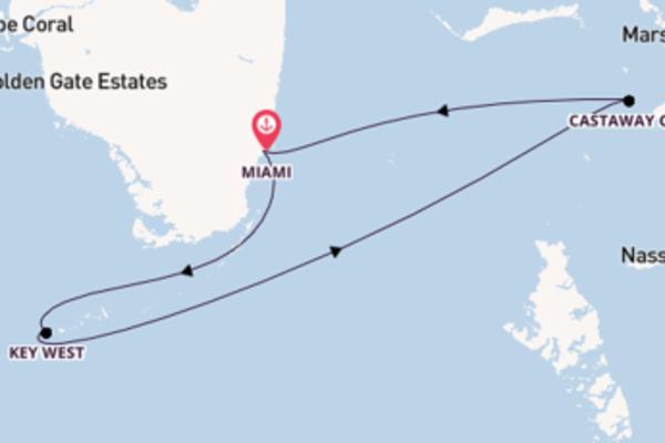 Wunderschöne Kreuzfahrt über Key West nach Miami