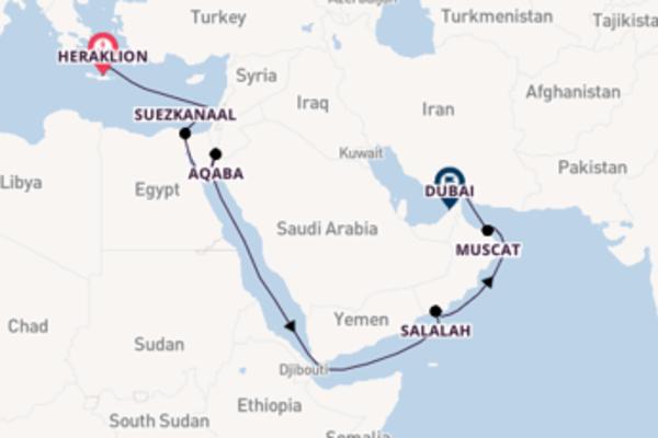 Ga mee op de AIDAcara naar Dubai