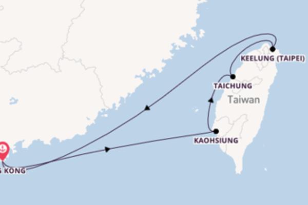 6 day voyage from Hong Kong