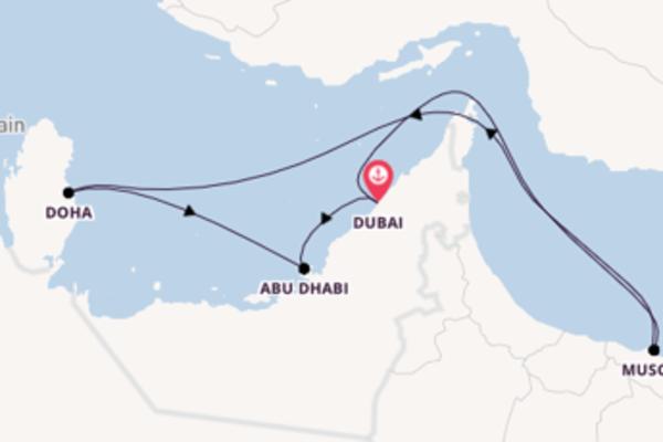 Kreuzfahrt mit der Costa Diadema nach Dubai