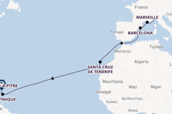 Ervaar Savona, Martinique en Pointe-à-Pitre