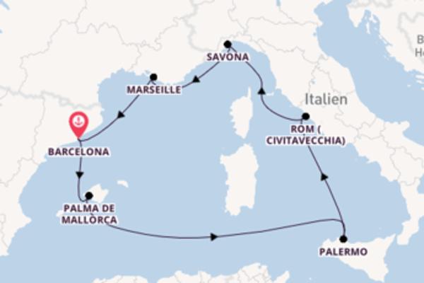 Kreuzfahrt mit der Costa Toscana nach Barcelona