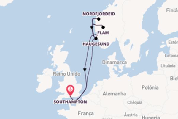 Jornada de 8 dias até Southampton com o MSC Magnifica